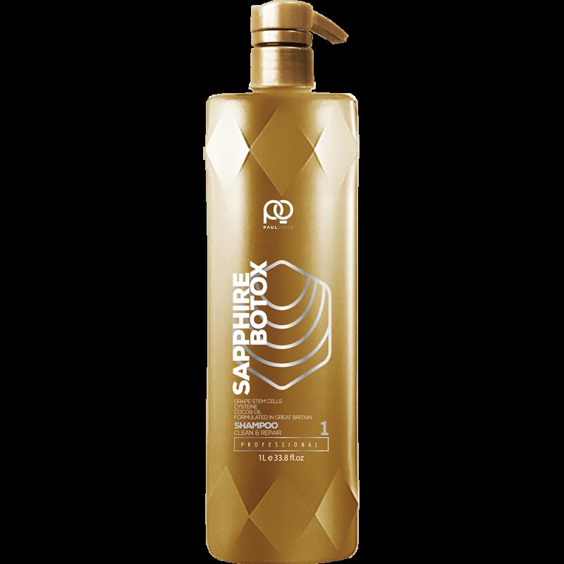 Подготавливающий шампунь для волос Botox Sapphire Regeneration & Reconstruction Shampoo step 1 PAUL OSCAR