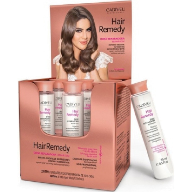 Восстанавливающий концентрат Hair Remedy Prof Vial CADIVEU