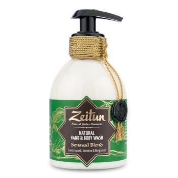 Жидкое мыло для рук и тела 'Чувственный купаж: сандал, бергамот и жасмин' ZEITUN