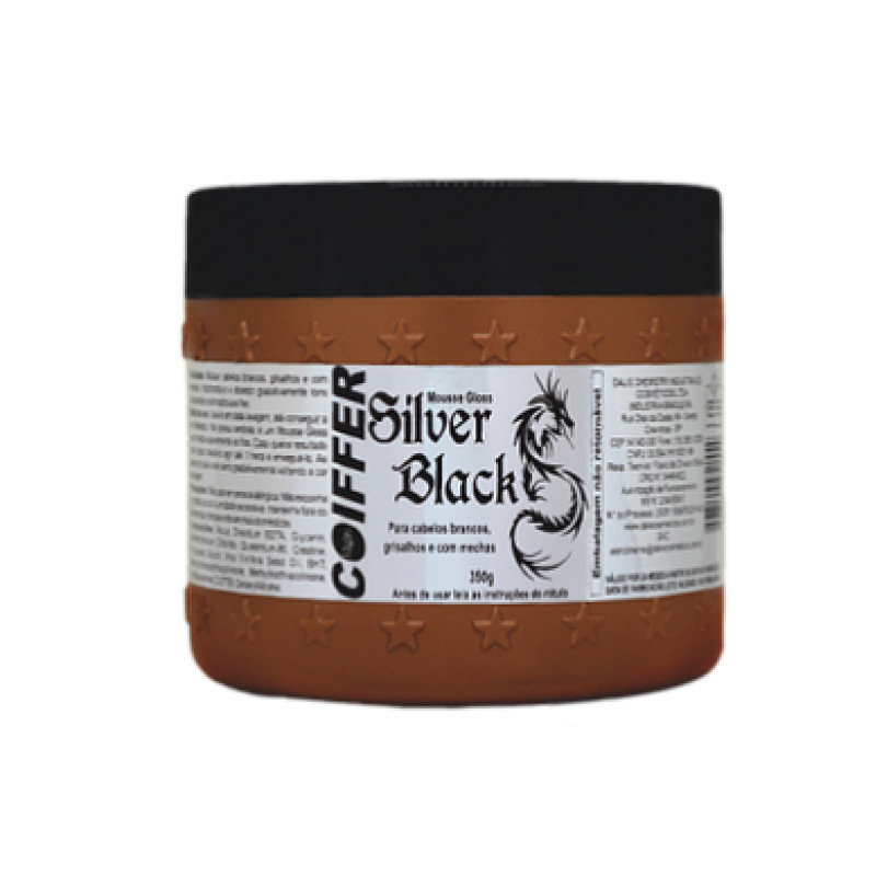 Маска-мусс для волос Gloss Silver Black COIFFER