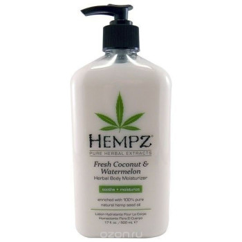 Молочко для тела увлажняющее Кокос и Арбуз Fresh Coconut Watermelon Herbal Moisturizer HEMPZ