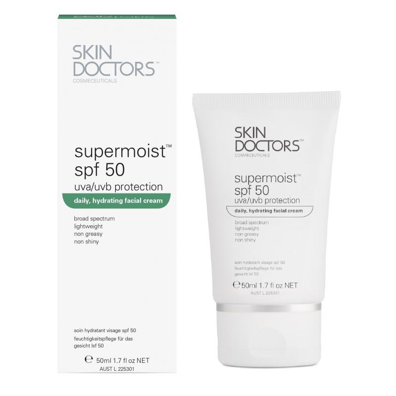 Увлажняющий, солнцезащитный крем для лица Supermoist SPF 50 Supermoist SKIN DOCTORS