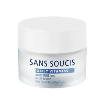 Крем витаминизирующий увлажняющий мультизащитный для 24-часового ухода DAILY VITAMINS MOISTURE PLUS Multi-Protection 24-h Moisture Care SANS SOUCIS