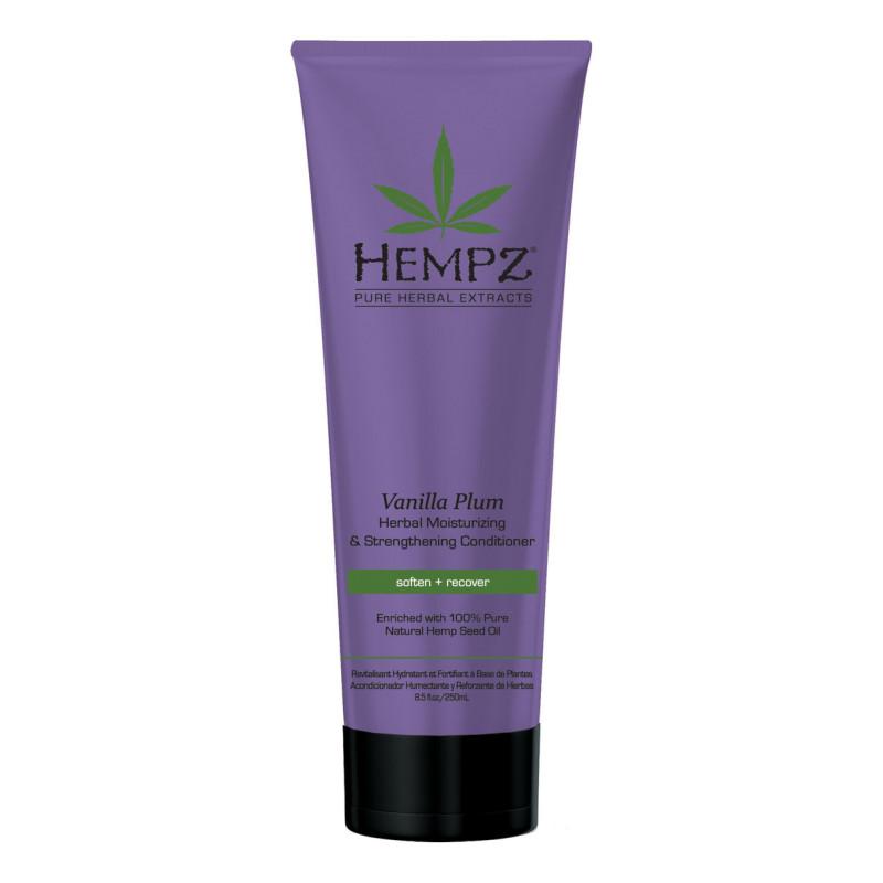 Кондиционер растительный увлажняющий и укрепляющий Ваниль и Слива Vanilla Plum Herbal Moisturizing Strengthening Conditioner HEMPZ