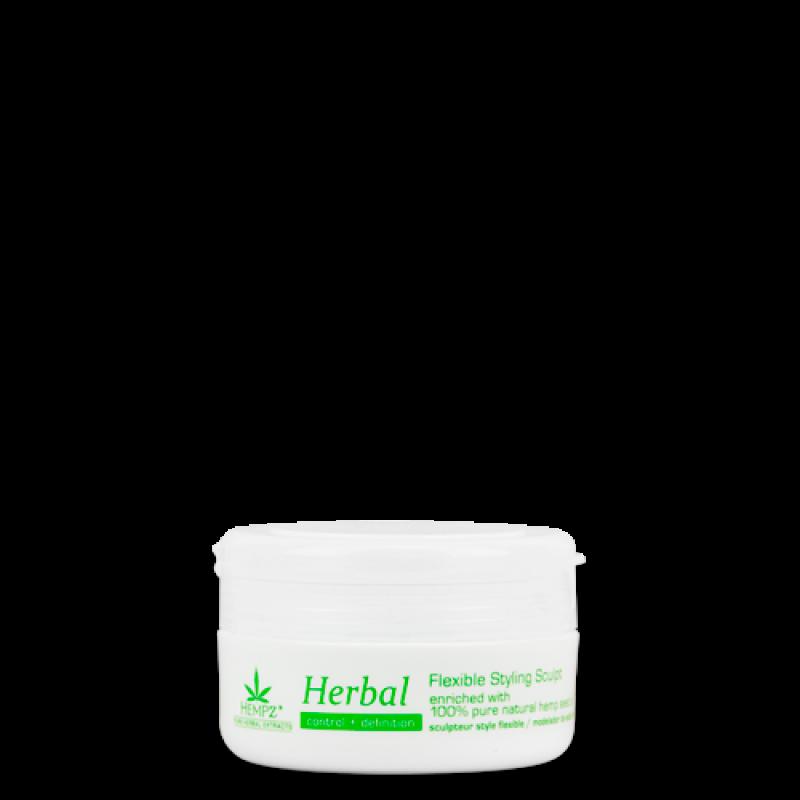 Паста растительная моделирующая пластичной фиксации Здоровые волосы Herbal Flexible Styling Sculpt HEMPZ
