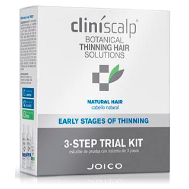 Система от выпадения и для роста волос для редеющих натуральных волос Cliniscalp 3-STEP KIT for Natural Hear ES CLINISCALP