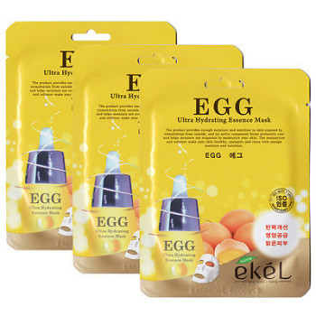 Тканевая маска с витамином С EGG ULTRA HYDRATING MASK EKEL