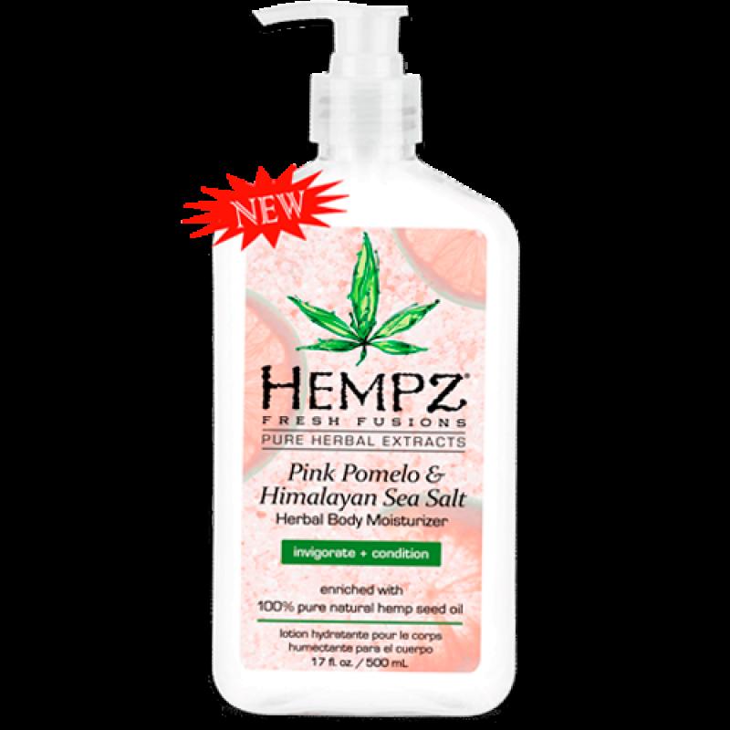 Молочко для тела увлажняющее Помело и Гималайская соль Pink Pomelo & Himalayan Sea Salt Herbal Body Moisturizer HEMPZ