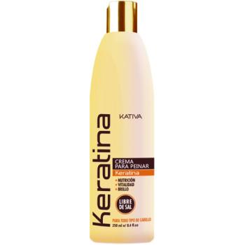 Кератиновый укрепляющий крем для укладки для всех типов волос KERATINA KATIVA