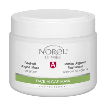Антивозрастная, увлажняющая, восстанавливающая альгинатная маска с красным виноградом / Peel-off algae mask anti-age with red grapes NOREL DR.WILSZ