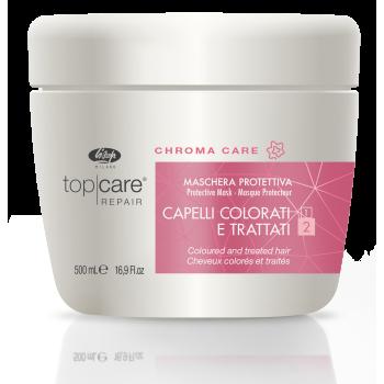 Восстанавливающая защитная маска для окрашенных, поврежденных волос - Top Care Chroma Care Protective Mask LISAP MILANO