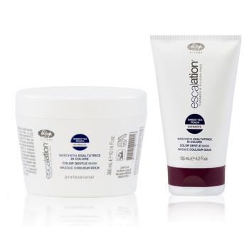 Маска для сохранения цвета и восстановления окрашенных волос с ICC Complex и маслом макадамии - Escalation Color Gentle Mask LISAP MILANO