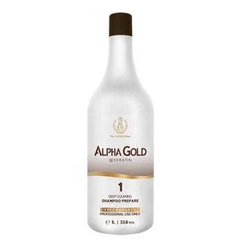 Подготавливающий шампунь для волос profissional shampoo Alpha Gold ESK PROFESSIONAL