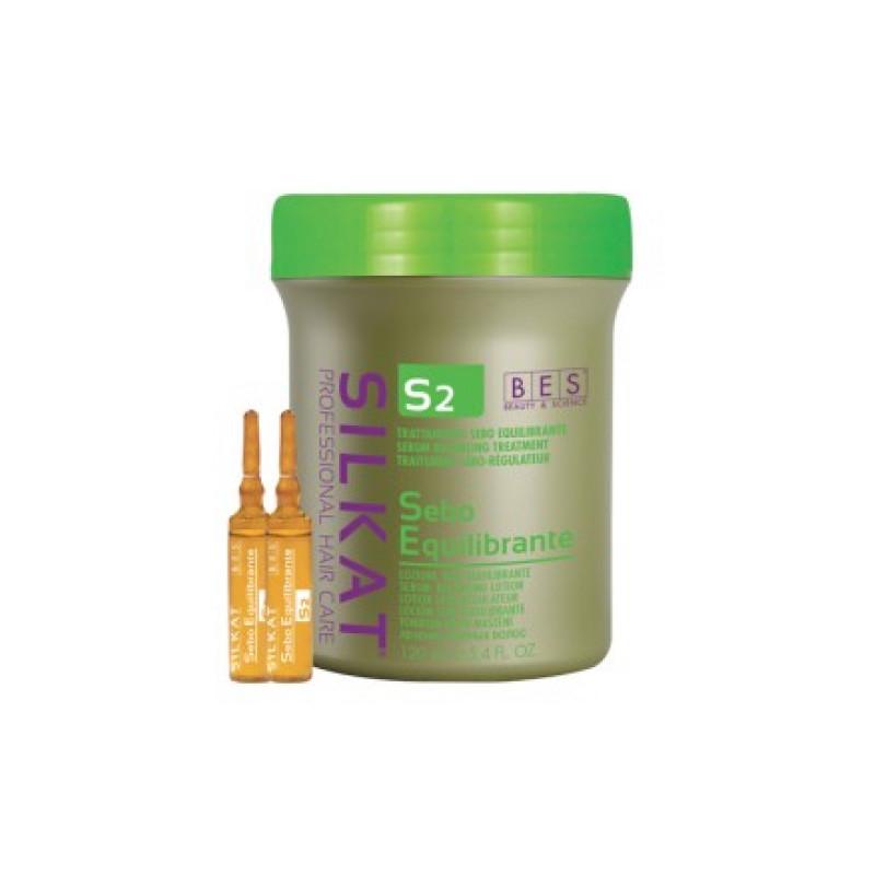 Активный лосьон для жирных волос S2 Silkat BES