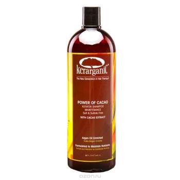 Кератиновый безсульфатный шампунь 'Сила какао' Keratin shampoo KERARGANIC