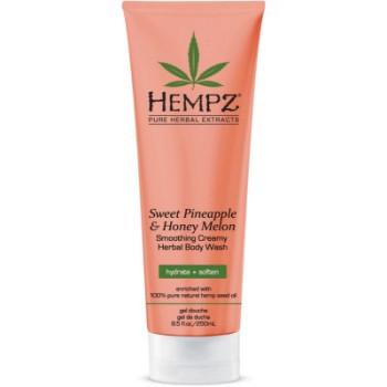 Гель для душа Ананас Медовая Дыня Sweet Pineapple Honey Melon Herbal Body Wash HEMPZ