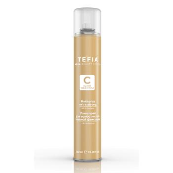 Лак - спрей для волос экстра сильной фиксации с д-пантенолом TEFIA