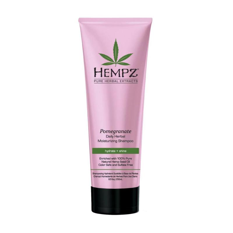Шампунь растительный Гранат легкой степени увлажнения Daily Herbal Moisturizing Pomegranate Shampoo HEMPZ