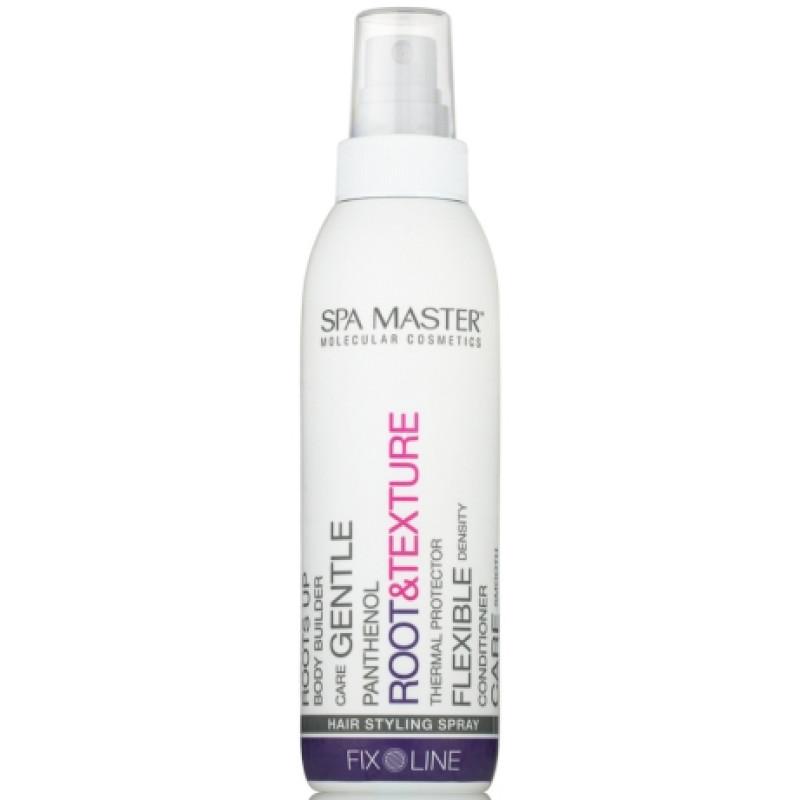 Термозащитный спрей для прикорневого объёма и текстурирования волос с пантенолом средней фиксации ROOT&TEXTURE HAIR STYLING SPRAY SPA MASTER PROFESSIONAL