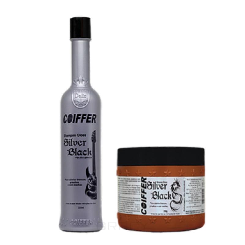 Набор для увлажнения и придания волосам темных оттенков Black Silver COIFFER
