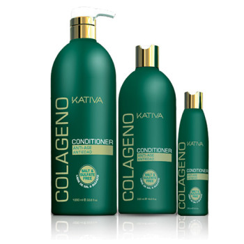Коллагеновый восстанавливающий кондиционер для всех типов волос COLLAGENO KATIVA