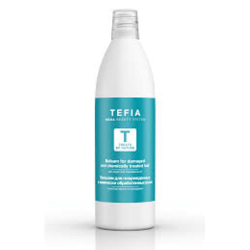 Бальзам для поврежденных и химически обработанных волос с маслом арганы и макадамии TEFIA