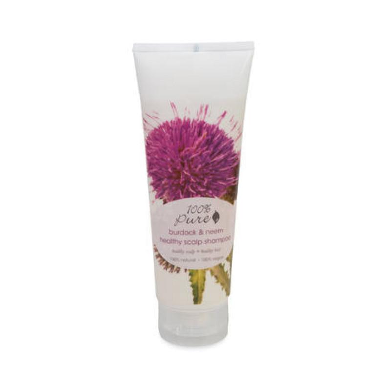 Шампунь для оздоровления кожи головы Репейник и Ним Burdock & Neem Healthy Scalp 100% PURE