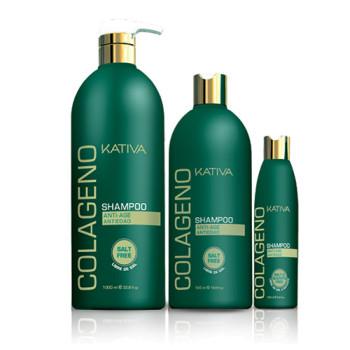 Коллагеновый восстанавливающий шампунь для всех типов волос COLLAGENO KATIVA