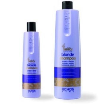 Шампунь с частицами платины и аргановым маслом Blonde Shampoo ECHOSLINE