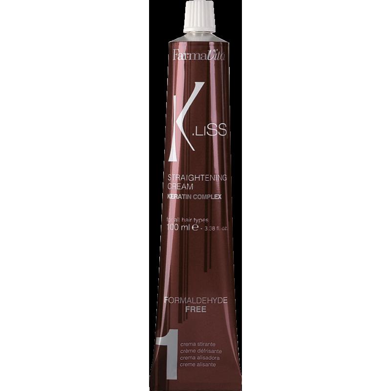 K.LISS Straightening cream Выпрямляющий крем с кератином FARMAVITA