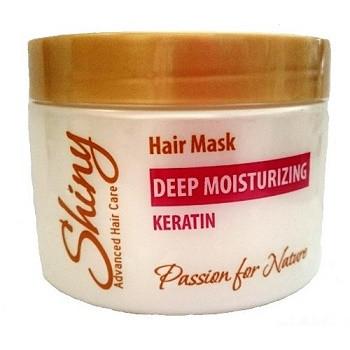 Маска для волос глубокое увлажнение с кератином SHINY