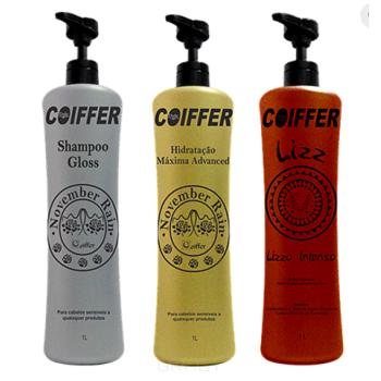 Профессиональный набор для выпрямления и интенсивности цвета волос оттенков блонд Lizz COIFFER
