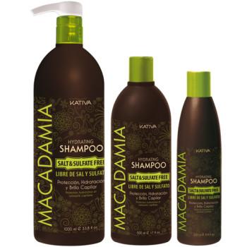 Увлажняющий шампунь для нормальных и поврежденных волос MACADAMIA KATIVA