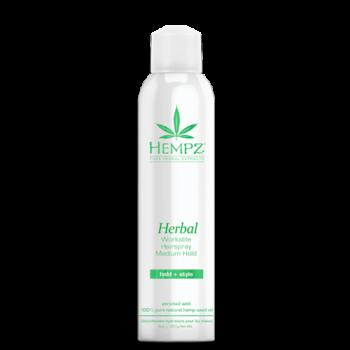 Лак растительный для волос средней фиксации Здоровые волосы Herbal Workable Hairspray Medium Hold HEMPZ