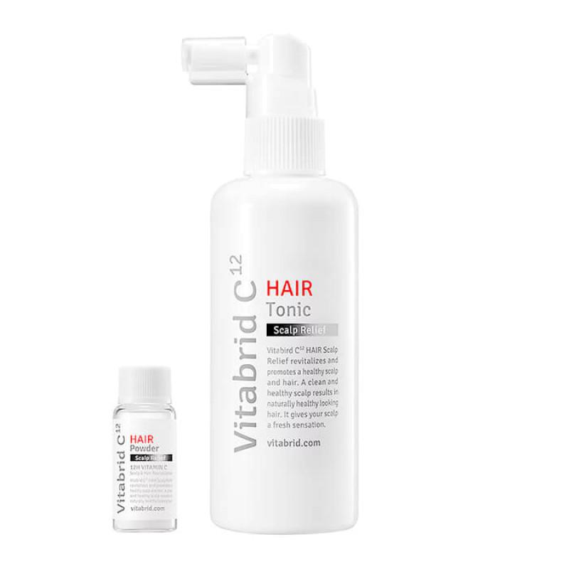 Тоник и пудра Hair Scalp Relief VITABRID C12