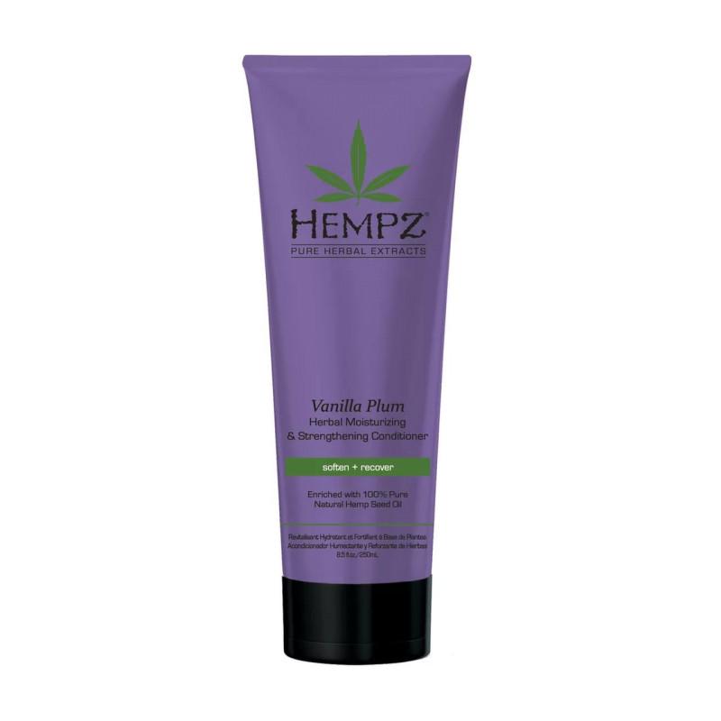 Шампунь растительный Ваниль и Слива средней степени увлажнения для ослабленных волос Vanilla Plum Herbal Moisturizing Strengthening Shampoo HEMPZ