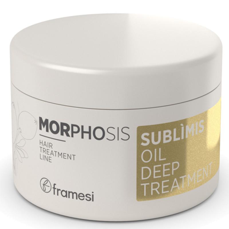 Маска для волос на основе арганового масла интенсивного действия MORPHOSIS SUBLIMIS OIL DEEP TREATMENT FRAMESI