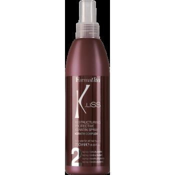 Защитный реструктуризирующий спрей K.Liss Restructuring protective keratine spray FARMAVITA