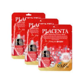 Восстанавливающая тканевая маска с плацентой Placenta Ultra Hydrating Essense Mask EKEL