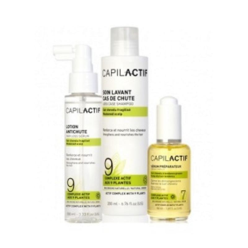 Набор против выпадения волос для чувствительной кожи головы (сыворотка + шампунь + лосьон) COIFFANCE