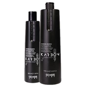 Угольный шампунь для волос, страдающих от химических процедур и стресс-факторов CHARCOAL SHAMPOO ECHOSLINE