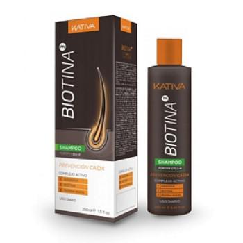 Шампунь против выпадения волос с биотином BIOTINA KATIVA