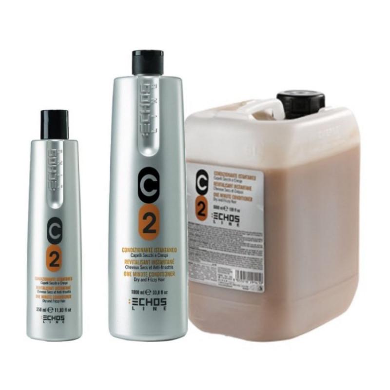 Кондиционер для сухих и вьющихся волос с молочными протеинами C2 Dry and Frizzy Hair Conditioner ECHOSLINE