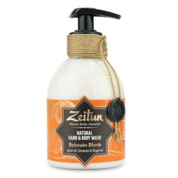 Жидкое мыло для рук и тела 'Бедуинский купаж: масло арганы, корица и танжерин' ZEITUN