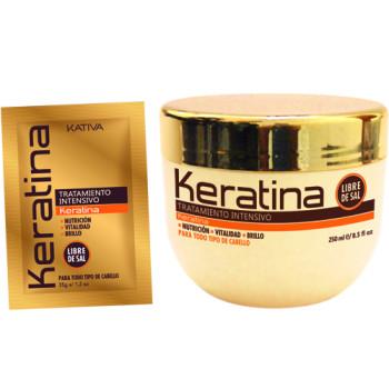 Кератиновая интенсивно восстанавливающая маска для поврежденных и хрупких волос KERATINA KATIVA