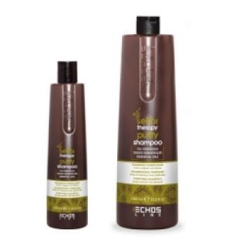 Нормализующий шампунь против жирной кожи головы Rebalance shampoo ECHOSLINE