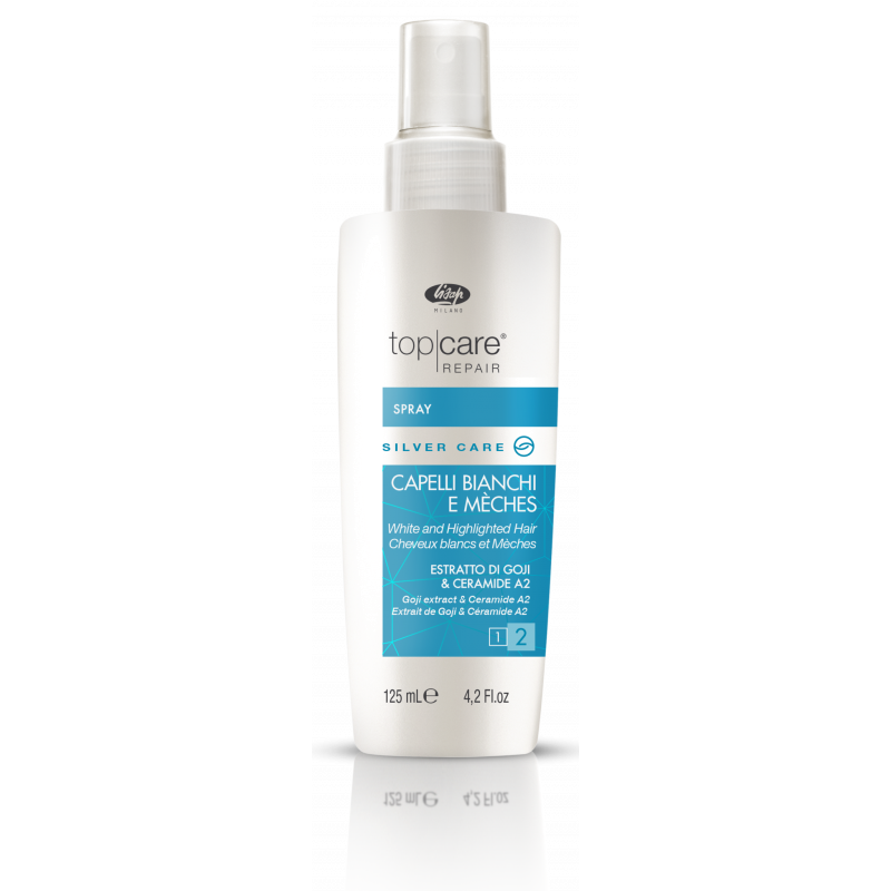Спрей-бальзам для осветленных, мелированных и седых волос - Top Care Repair Silver Care Spray LISAP MILANO