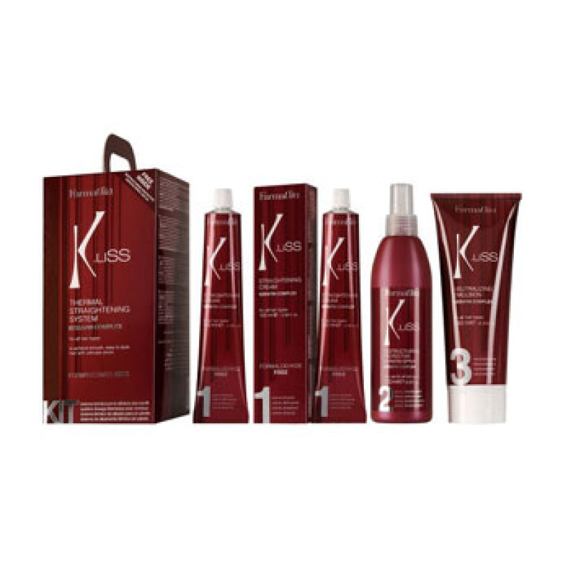 Состав для теплового выпрямления волос с кератином в наборе K.Liss Termal Straightening system KIT FARMAVITA