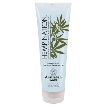 Профессиональный гель для душа на основе масла семян конопли Sea Salt & Sandalwood Body Wash AUSTRALIAN GOLD