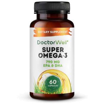 Исландский рыбий жир в капсулах Омега-3 Super Omega-3 DoctorWell